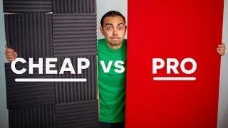 $50 DIY vs $450 PRO Acoustical Panels (Worth It?) - Echo & Sound Proofing