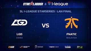 LGD vs Fnatic, Part 2, StarSeries 13 LAN-Final, Day 1