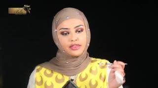 Makeup tutorial by Sondos Al Qattan wearing navy gray/ Glow Collection #bella #color contact lenses