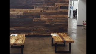Reclaimed Wood Wall In Booth