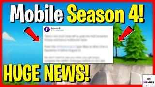 *NEW* Fortnite Mobile SEASON 4 HUGE NEWS! (Coming Back/Returning?) | Fortnite Mobile Update IOS
