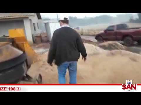 Elementos causam prejuízos em construção em Capitão
