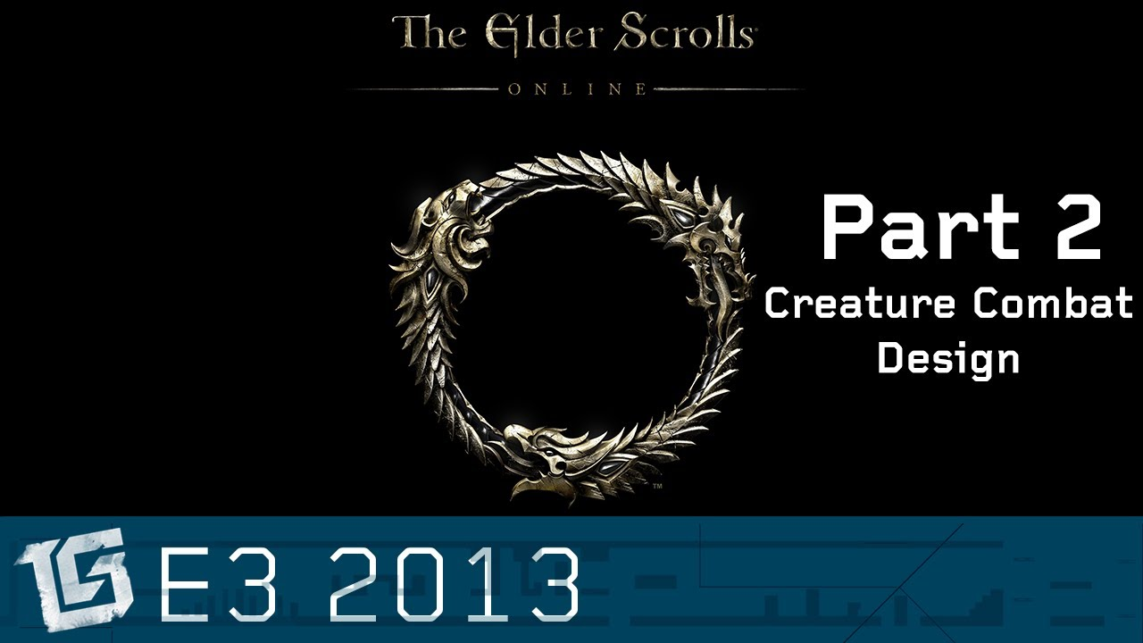 Elder Scrolls Online: видео - Creature Combat Design - TGS at E3 2013
