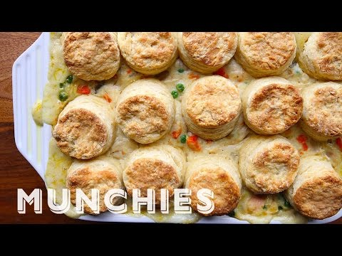 The Easiest, Most Comforting Pot Pie Is Topped With Scones