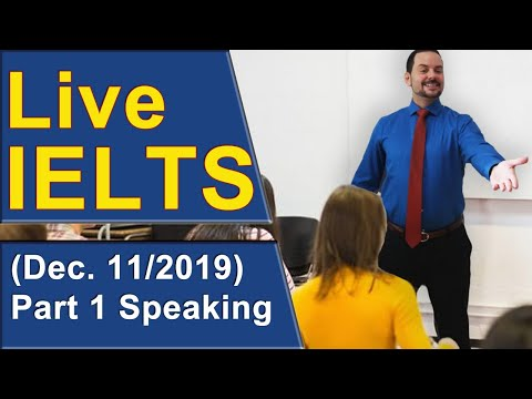 IELTS Live - Speaking Part 1 - Strategy and Practice for Band 9