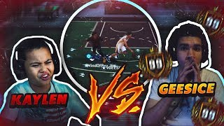 1v1 9 YEAR OLD BROTHER VS FIRST 99 OVERALL GEESICE! OMG DID THIS HAPPEN?? ANKLES 😂 FUNNY! NBA 2K18