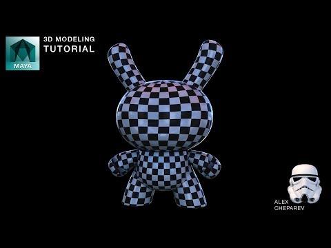 Maya Beginner Modeling Tutorial – UV Unwrap
