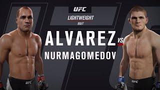 Хабиб vs Альварес ( Хабиб Нурмагомедов против Эдди Альвареса ) UFC 2 . Разминка для Хабиба