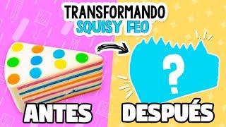 TRANSFORMANDO SQUISHIES FEOS #2 *Squishy Makeover* ✄ Craftingeek