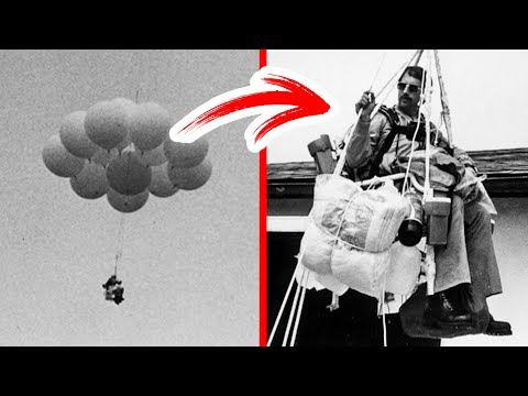 A Man Flew in a Chair on 45 Balloons But Got Arrested