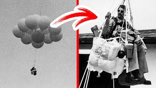 A Man Flew in a Chair Tied to 45 Balloons
