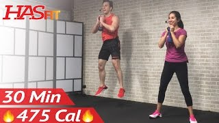 30 Minute HIIT Tabata Workout with Weights - Full Body Dumbbell High Intensity Workout at Home by HASfit