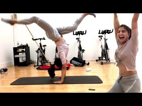 Jacqueline Fernandez AMAZING Gym Training for RACE 3 Movie | Gym Workout