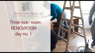 Three kids' room RENOVATION - day no.1