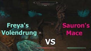 Skyrim SE - Freya's Volendrung vs Sauron's Mace