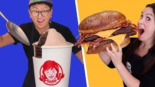 30 POUND Baconator & Wendy's Frosty  // Feat. How To Cake It