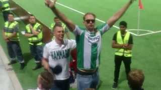 Александр Скарсгард, Alexander Skarsgård Gets the Hammarby crowd going