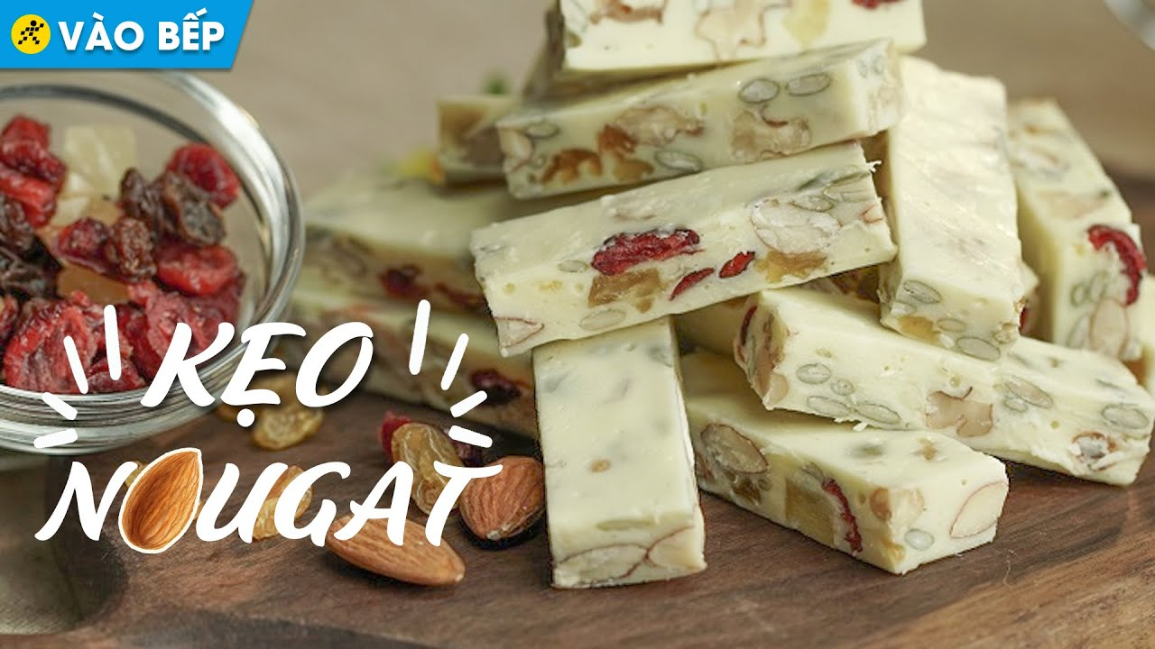 Làm kẹo sữa Nougat bằng Marshmallow