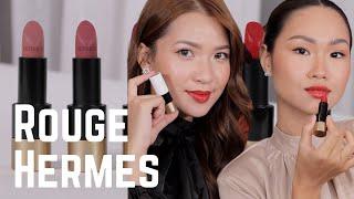 Thử son xịn #11 | Rouge Hermes xịn tới mức nào? 💄Swatch & Review 2 màu da 🧡