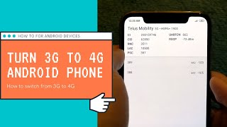 How To Change 3G To 4G On Android Phones - Go From 3G to 4G LTE Network! (Troubleshooting)