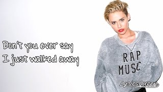 Miley Cyrus - Wrecking Ball [Lyrics] HD