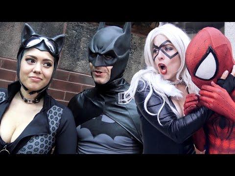 Spider Man Vs Harley Quinn Black Cat Real Life Superhero Movie