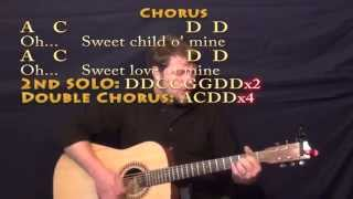 Sweet Child Of Mine (GNR) Strum Guitar Cover Lesson With Chords/Lyrics