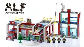 Lego City 7208 Fire Station - Lego Speed Build Review