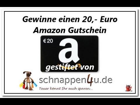 Gewinnspiel - 20,- Euro Amazon Gutschein gestiftet von schnappen4u.de