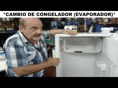 COMO REPARAR UN REFRIGERADOR (CONGELADOR PINCHADO UN SOLO FRIÓ).