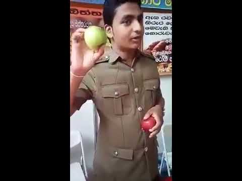 Watch before eat apple