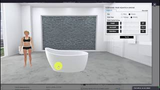 3D Body Position App for Aquatica Bathtubs