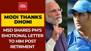 MS Dhoni Shares PM Modi's Emotional Letter To Him After Retirement