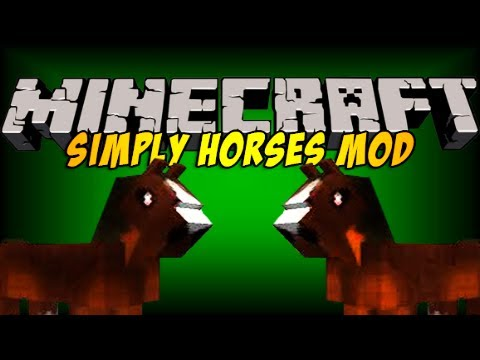 Minecraft | SIMPLY HORSES! (Rideable Horses!) | Mod Showcase