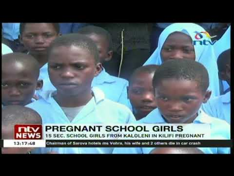 15 secondary school girls from Kaloleni in Kilifi County pregnant