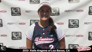 2022 Katie Aragona First Base Softball Player Skills Video - AASA Pikas
