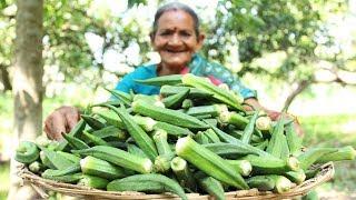 Crispy Okra Kurkure By Grandma || Okra Kurkure Recipe || Myna Street Food