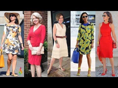 Омолаживающие платья для женщин 40-50 лет фото 💎 Как одеваться летом 2018? Модная шпаргалка стиля