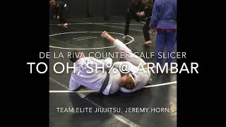 De la riva calf slicer counter to oh sh@# armbar