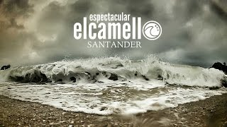 Oleaje en la playa de El Camello
