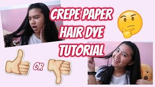 How To Use Crepe Paper To Color Your Black Hair Free Video Search