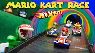 🔥 Hot Wheels MARIO KART 2019 Toy Car Race | Diecast Racing Nintendo