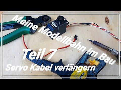 Teil 7 Meine Modellbahn Anlage im Bau ~ Spur Z ~ Servo Kabel Verlängerung