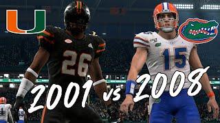 2001 Miami Hurricanes Vs. 2008 Florida Gators | Feat. Ed Reed, Sean Taylor, Andre Johnson, Tim Tebow