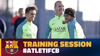 FC Barcelona training session: Final session ahead of trip to Madrid