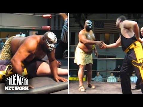 "Kamala ""The Ugandan Giant"" vs Eddie Kingston – Pro Wrestling Syndicate (WWF, AEW, Mid South)"