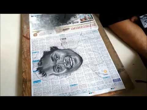 portrait rangoli design hima das by ganesh khare