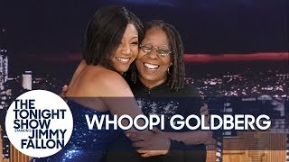 Superfan Tiffany Haddish Crashes Whoopi Goldberg's Interview