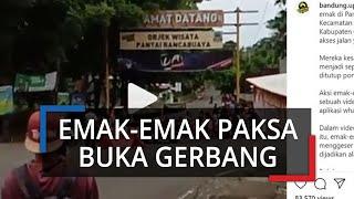 Viral Video Emak-Emak Buka Paksa Gerbang Tempat Wisata Rancabuaya di Kabupaten Garut