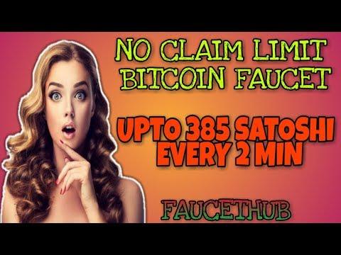 UPTO 385 SATOSHI EVERY 2 MIN    NO CLAIM LIMIT BITCOIN